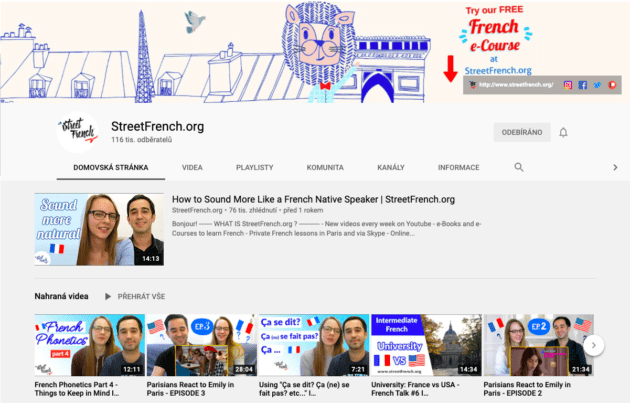 street french youtube