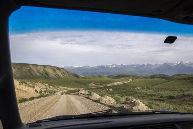 Naryn Aksai Cesta Kyrgyzstan
