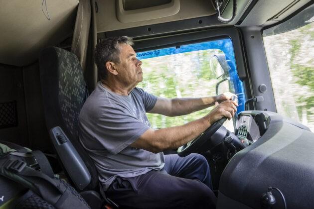 jízda v kamionu