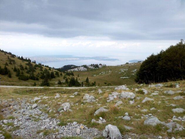 Výhled od chaty Zavižan Velebit Chorvatsko