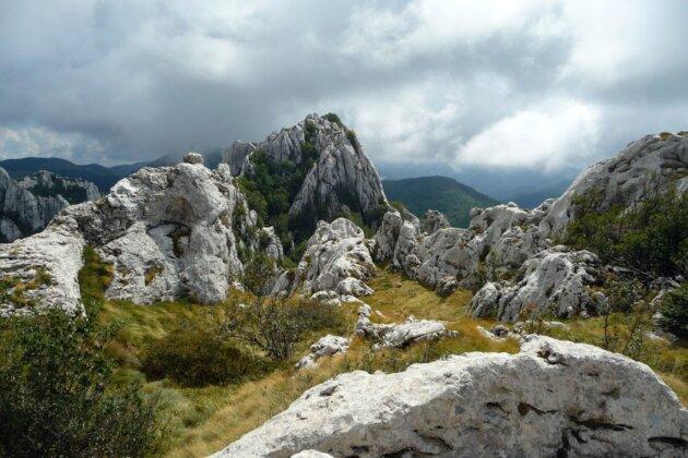 Dabarski kukovi Velebit Chorvatsko