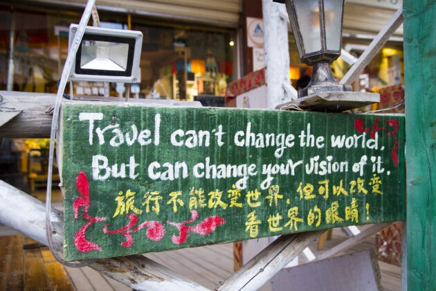 travel can't change the world but can change your vision of it table