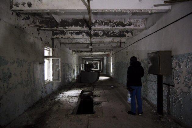 chodba na velitelstvi radaru duga pobliz cernobylu