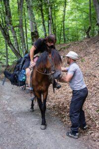 chlap na koni