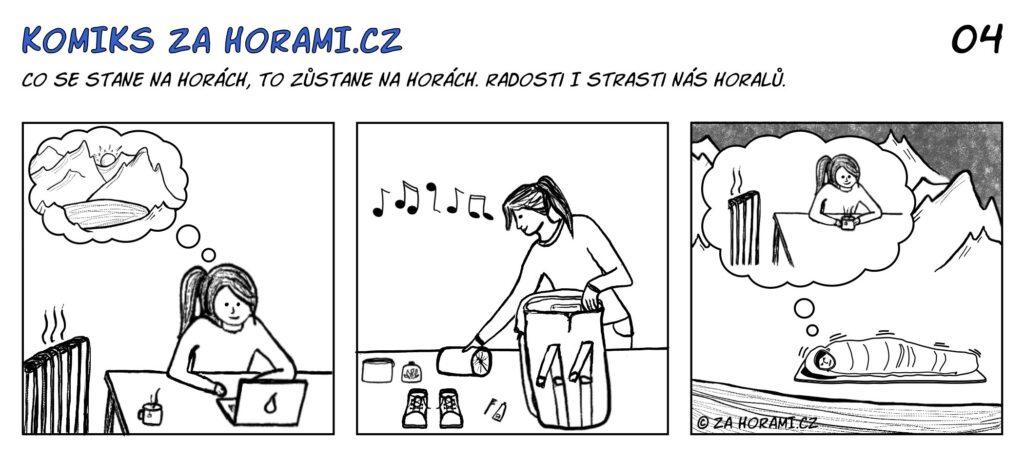 04 Komiks Za Horami Hrejiva Vzpominka Komplet