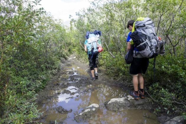 blato a potok v ceste