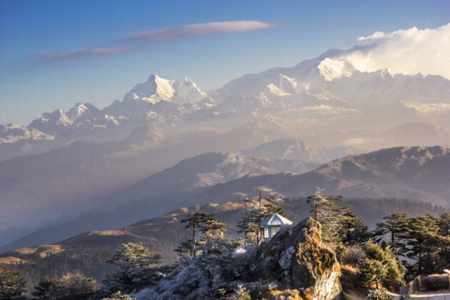 Kanchenjunga Vyhled Himalaje