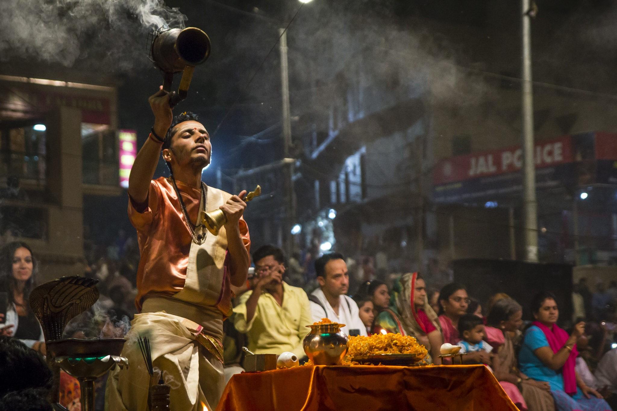 Obrad Ganga Varanasi Vecer
