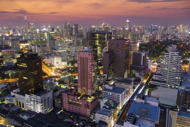 Bangkok Noc Z Vysky