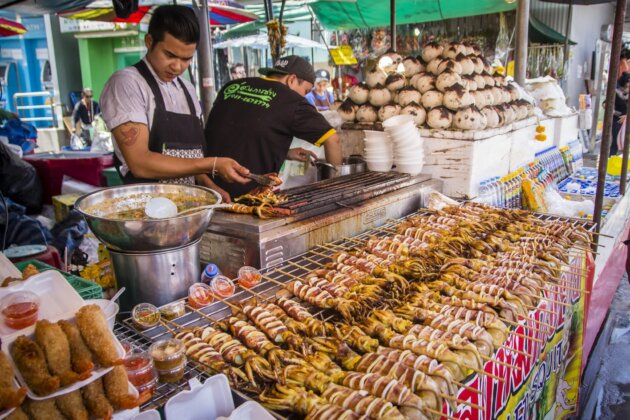 Sepie Street Food Thajsko