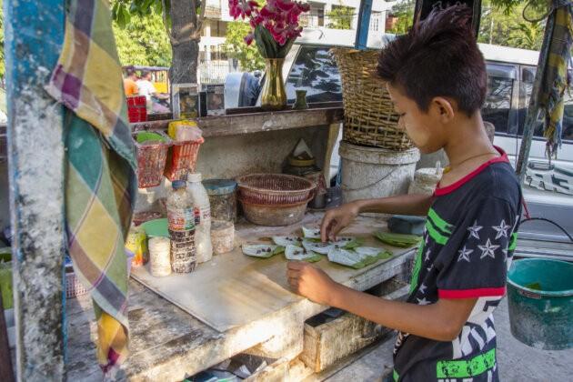 Betel Maly Prodejce Myanmar