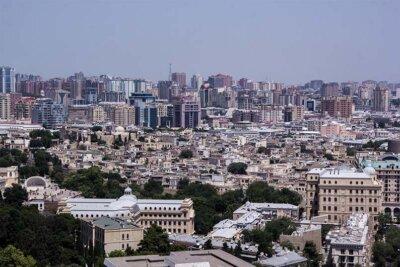 Pohled na Baku, Azerbajdžán