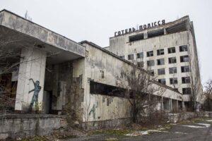 Pripjať, hotel Polissja, Černobylská zóna