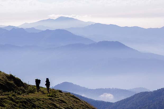 Výhled na malý Kavkaz, Gruzie