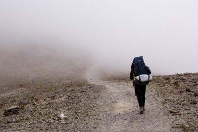 Horský nováček na svém prvním treku v Azerbajdžánu