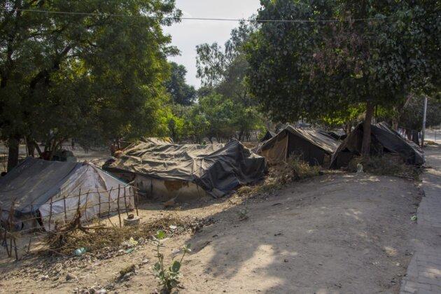 Slum chatrce Indie Agra
