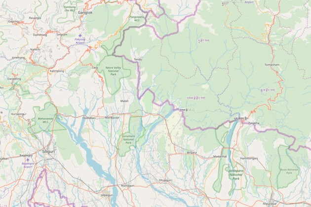 Ukazka Osm mapa