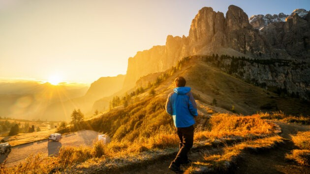Bigstock Traveler Hiking Breathtaking L 241536727